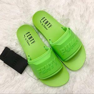 6dd436fffe39 NEW Puma Fenty by Rihanna Surf Slides Riri Green